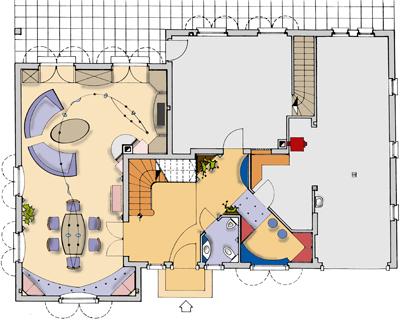 Einrichtungsvorschlag - Grundriss