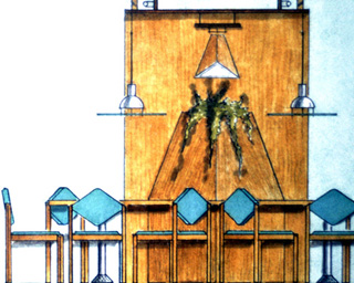 Ladenbau - Restaurantplatz Entwurf